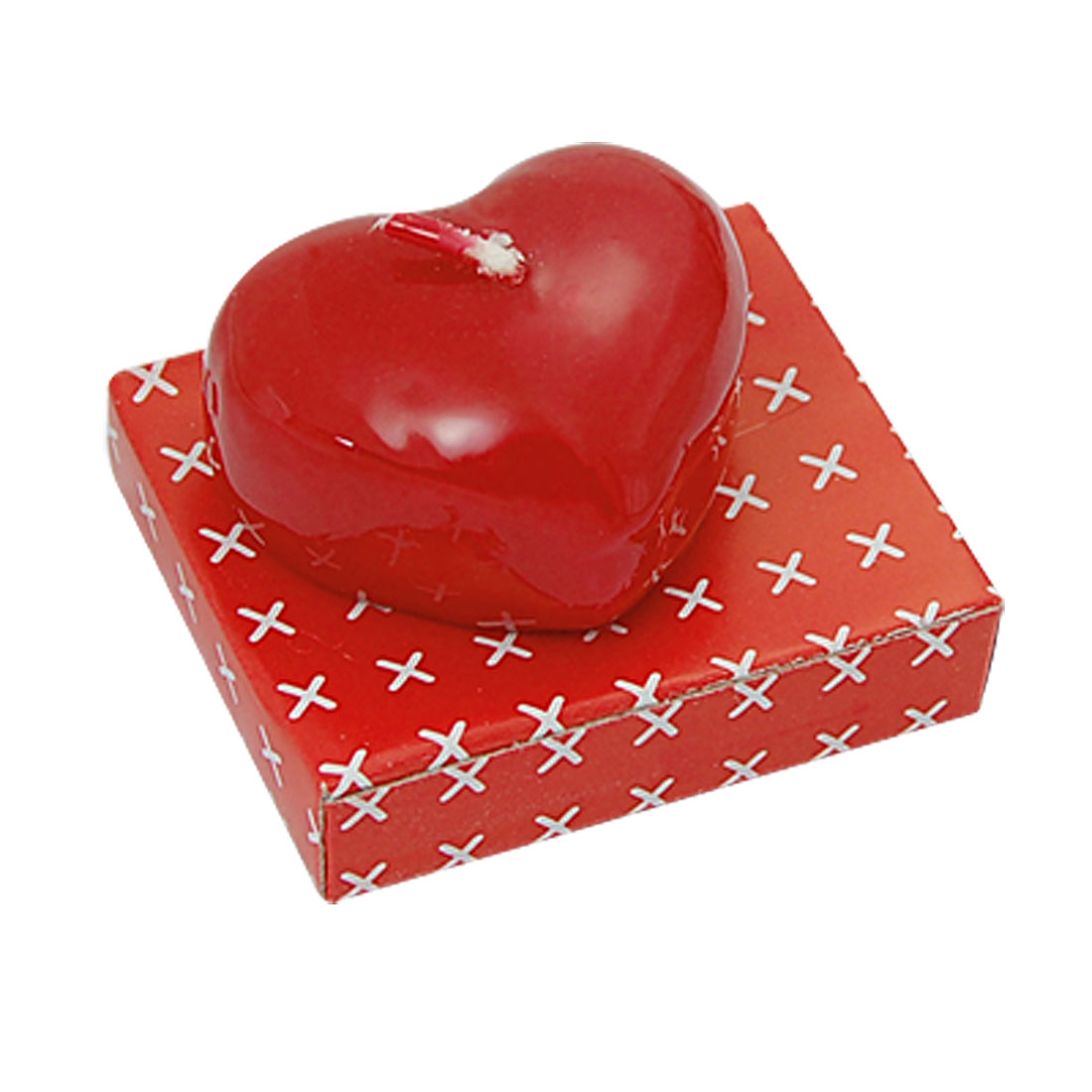 Red Heart Shape Ornamental Party Candle Birthday Present