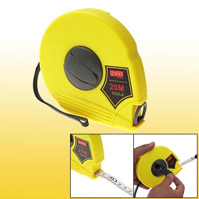 20 m Long Yellow Measurers Measuring Tool Retractable Tape Measure