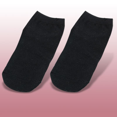 1 Pair Cotton Spandex Black Anklet Ladies Springy Socks