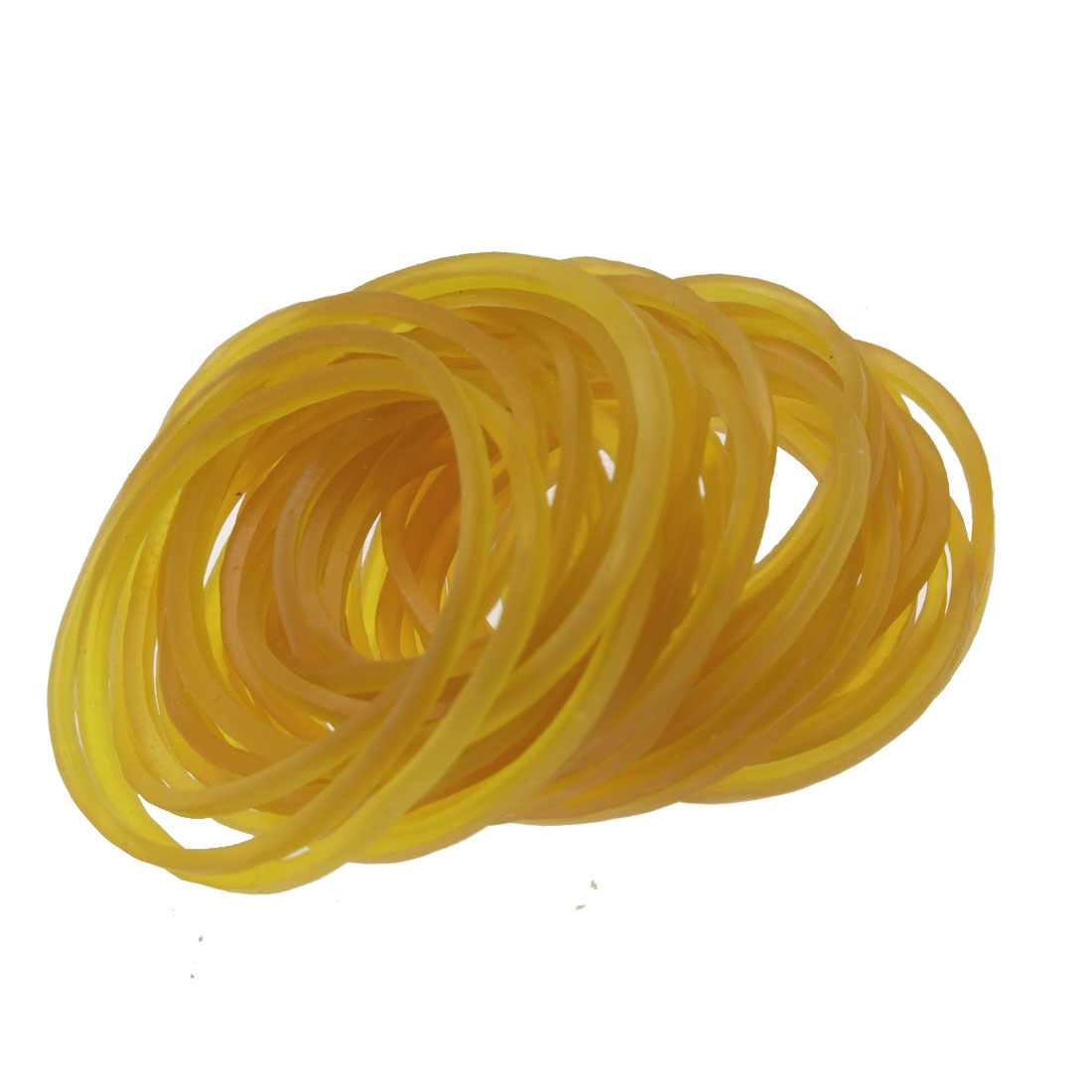 70 Pcs Orange Flexible Elastic Fixing Rubber Band