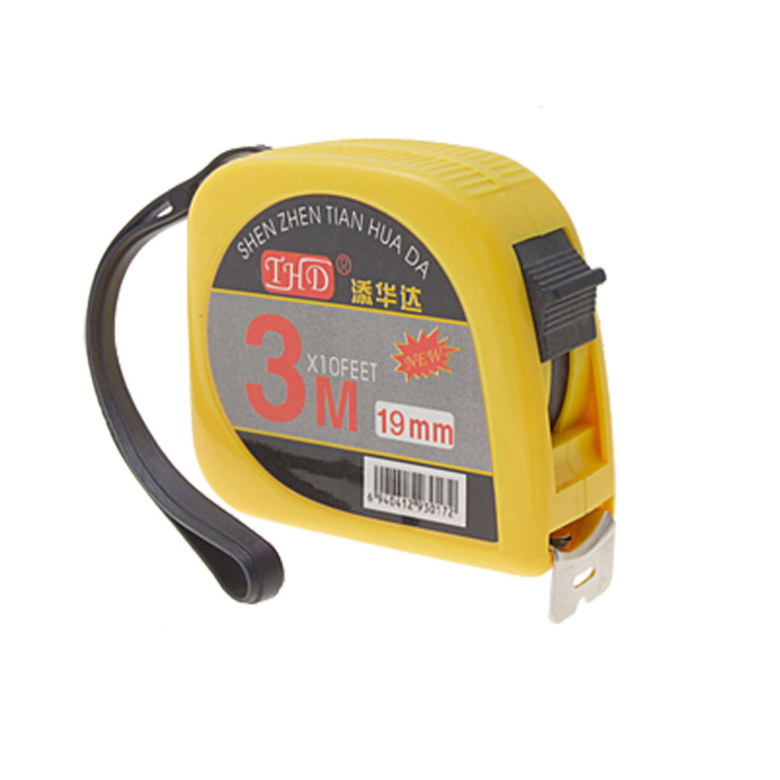 Retractable 3 Meters Long Steel Tape Measure Measuring Tool Yellow Black