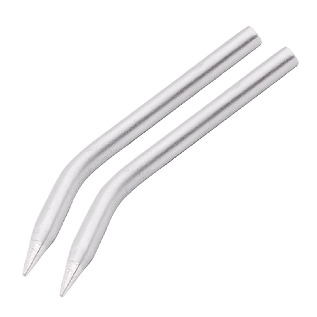 Replacement 4.5mm Diameter Soldering Iron Tool Bent Tip 2pcs
