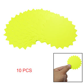 Green Yellow Sale Promotion Price Label Card Paper 10 PCS