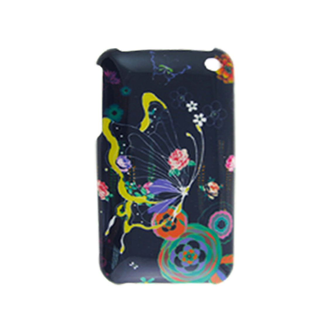 Butterfly Print Hard Plastic Back Case for iPhone 3G Colorful