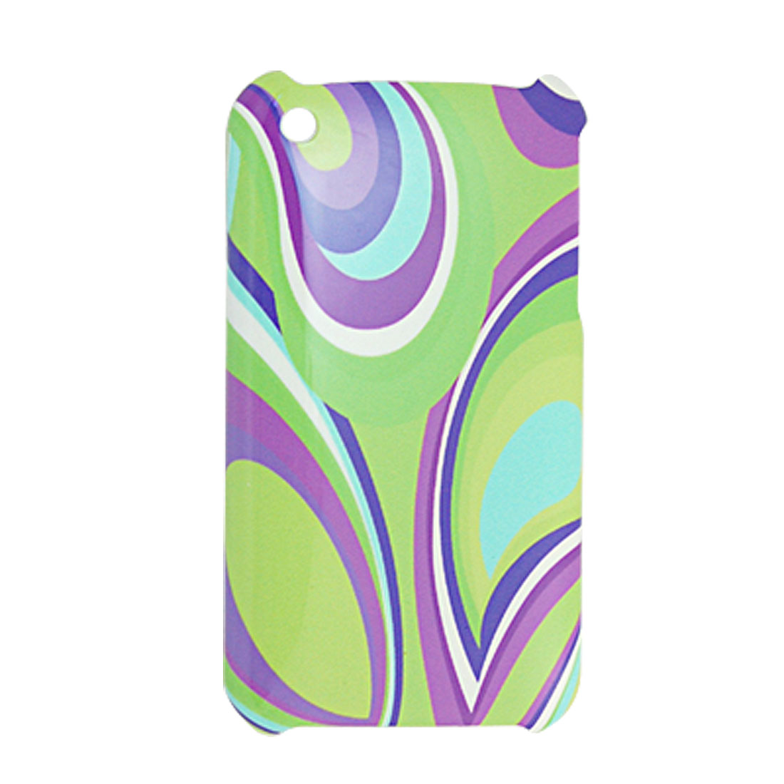 Plastic Colorful Printed Back Cover for iPhone 3G