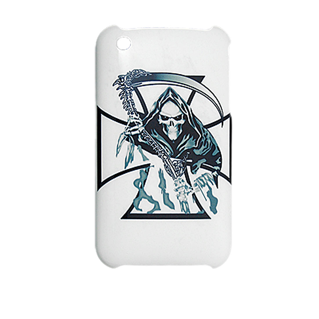 Protective Devil Printed Back Shell for iPhone 3G White
