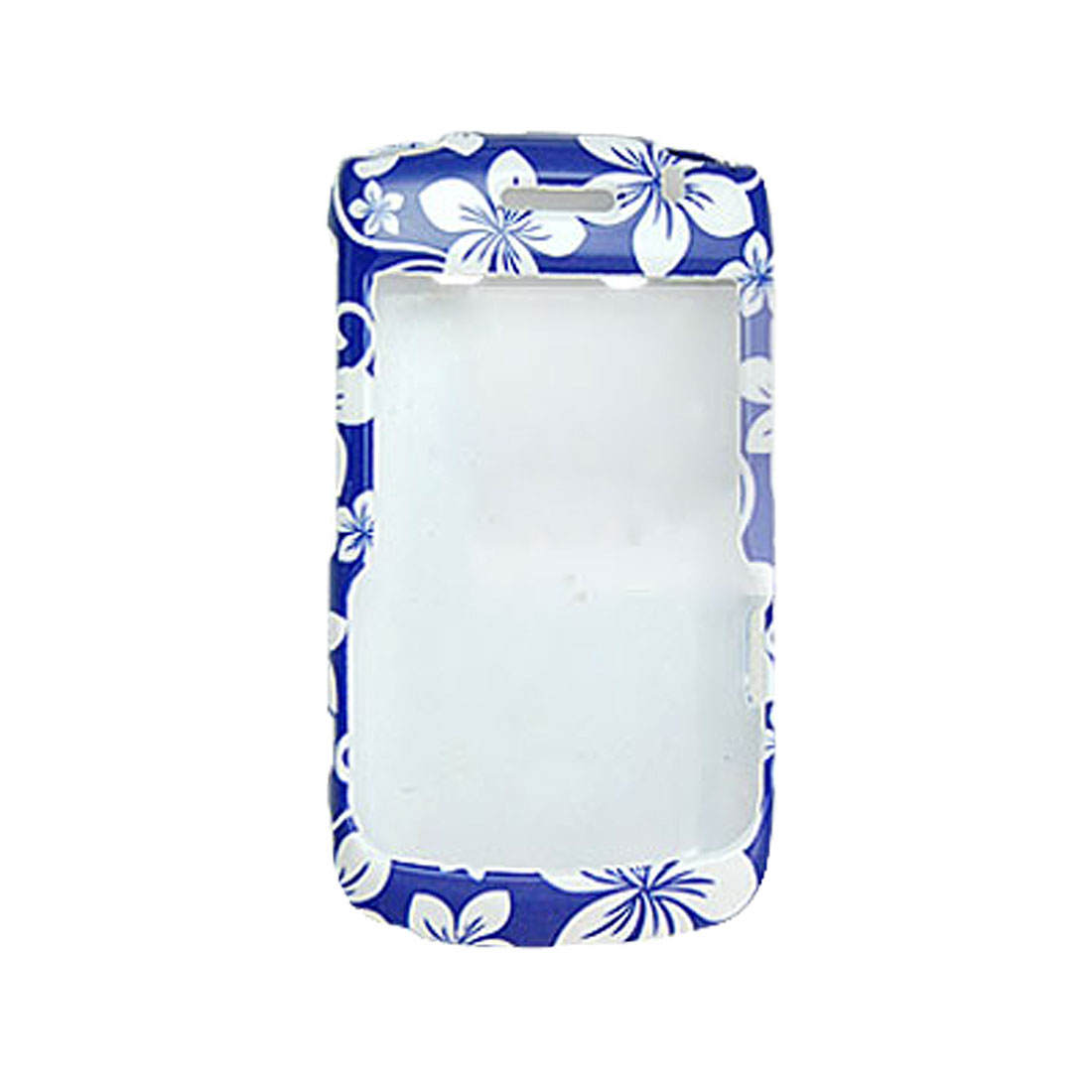 Blue White Floral Print Shell Cover for Blackberry 9700 9020