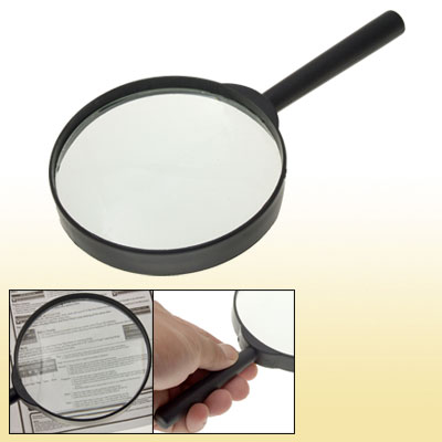 Black Plastic Handle Reading 3X Magnifying Magnifier