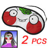 Cartoon Funny Light Blocking Eye Shade Sleeping Mask 2 Pcs
