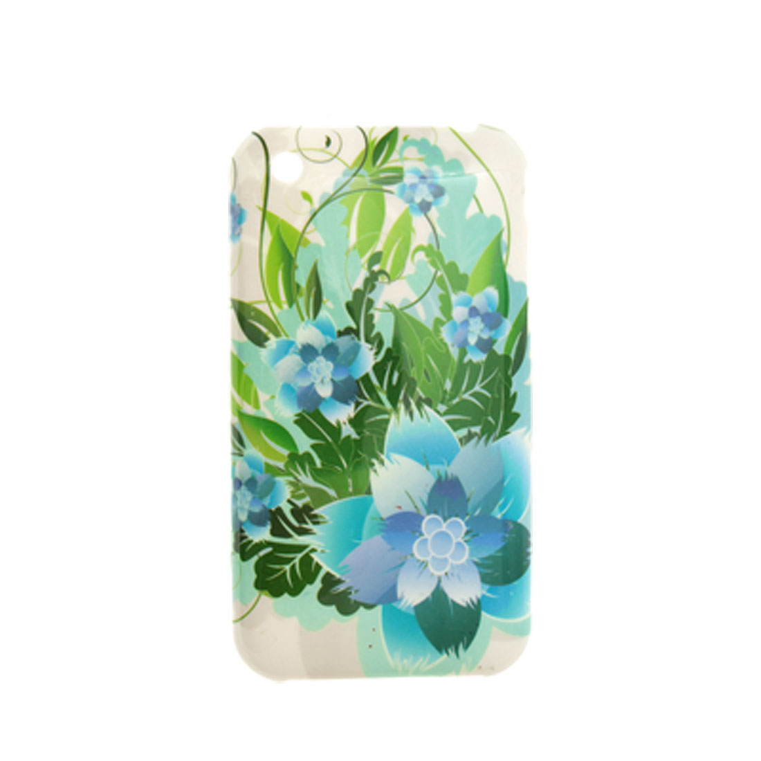 Floral Print Plastic Case Screen Guard for iPhone 3G