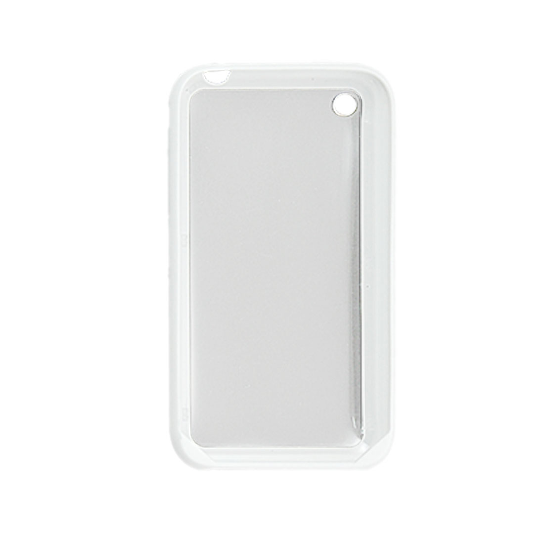 Protective White Hard Back Cover Shell Screen Guard for iPhone 3G