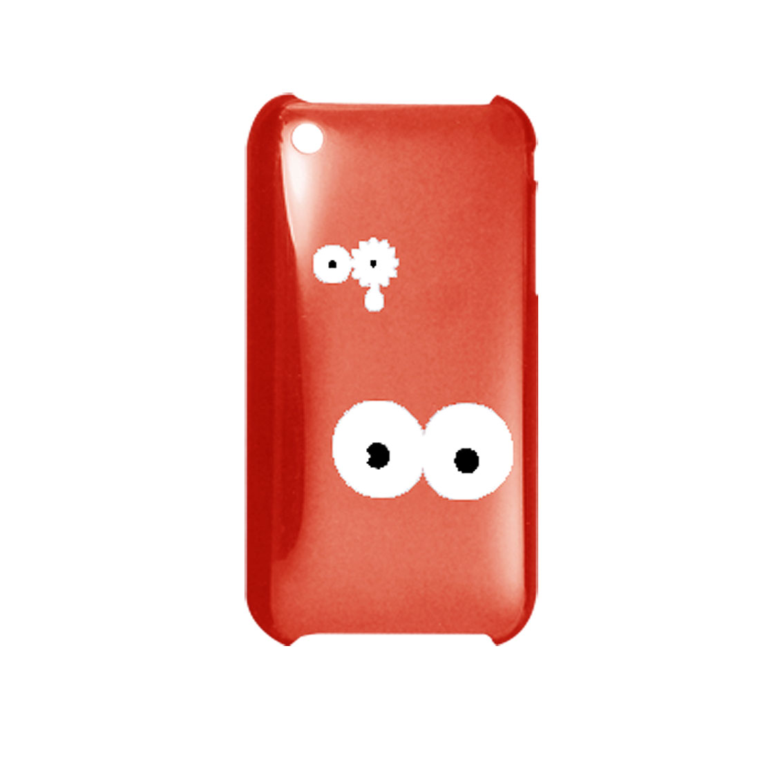 Clear Red Hard Plastic Back Eye Case Cover for iPhone 3G
