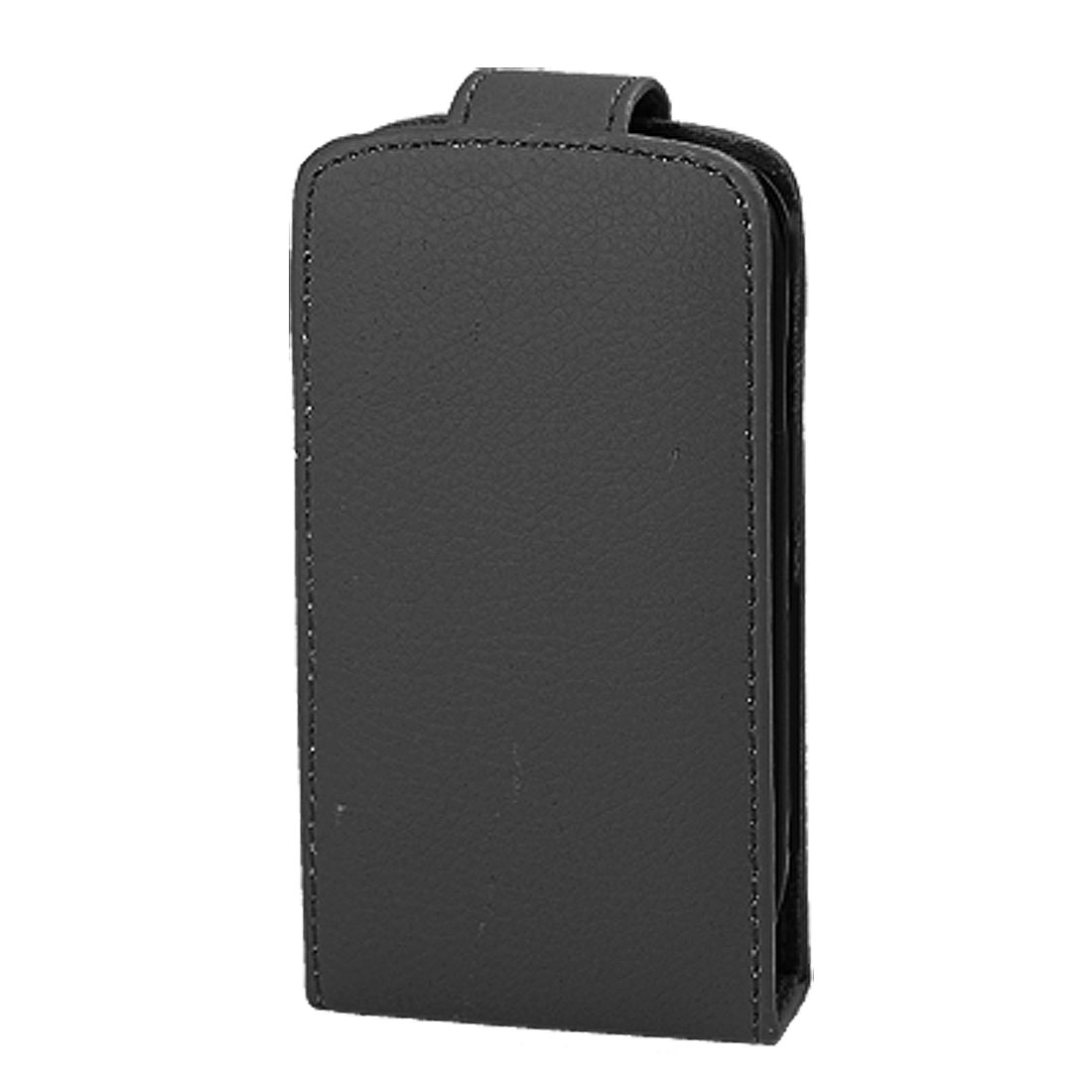 Vertical Black Faux Leather Pouch Case for iPhone 3G