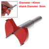 45MM Red Forstner Bit Woodworking Boring Hole Cutting Tool