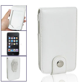 Faux Leather Protective Case Cover for iPod Touch 3G White