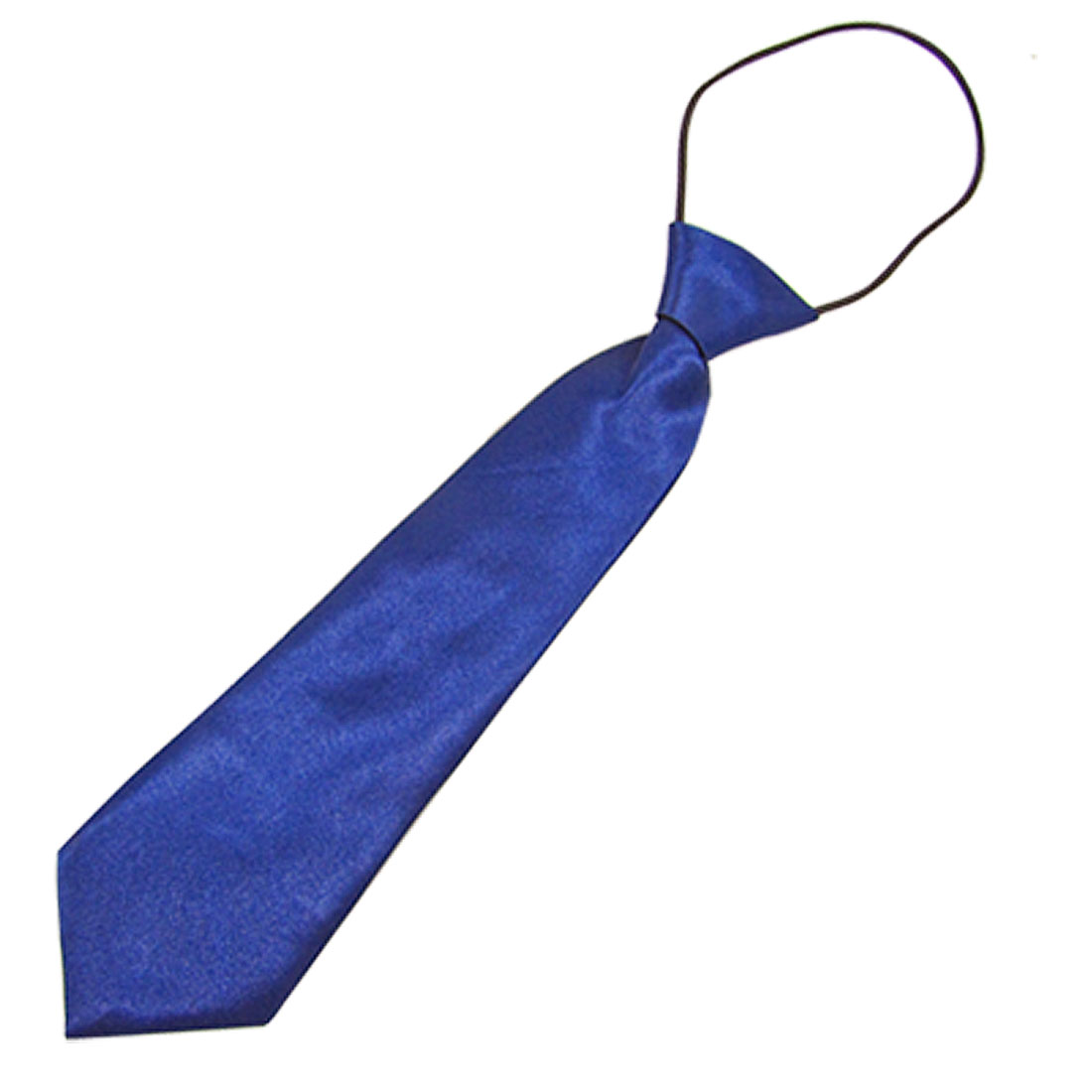 Children Polyester Neck Tie Arrow Shape Necktie Solid Blue