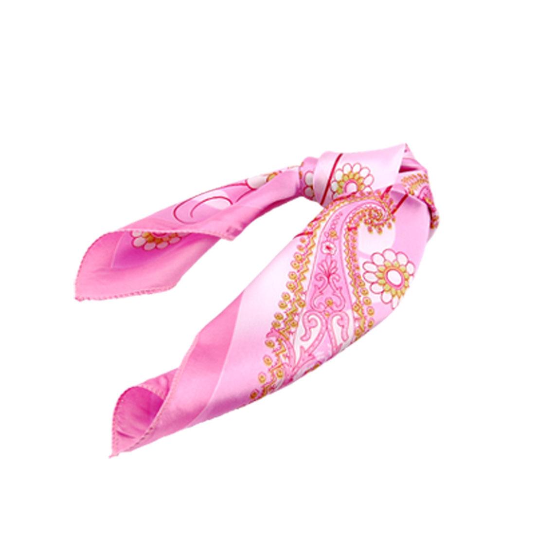 Lady Modern Head Scarf Flower Pattern Scarves Wrap