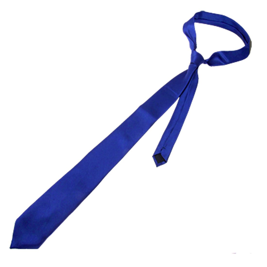 Satin Style Polyester Neck Tie Necktie Blue for Men