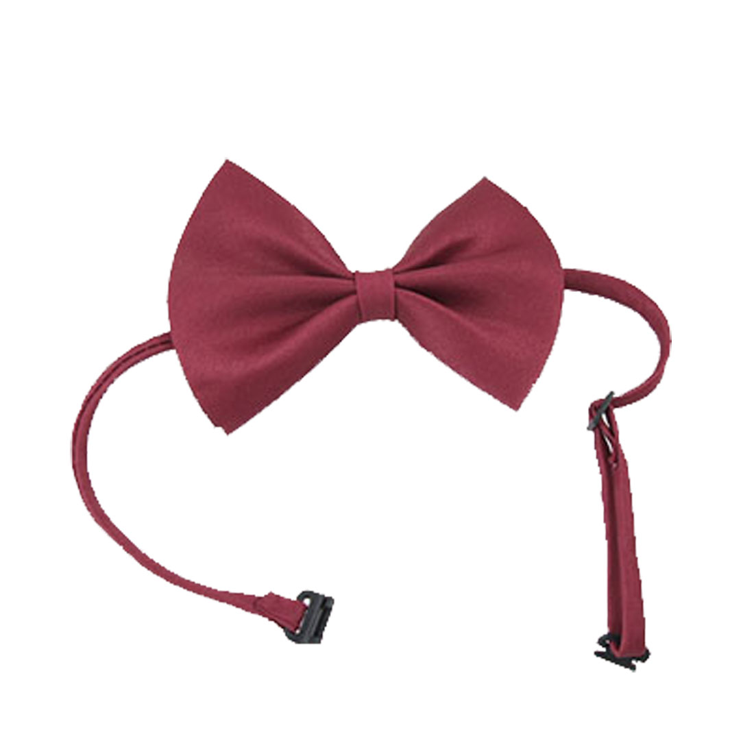 Red Two Layer Polyester Bow Tie Bowtie with adjustable Strape for Men