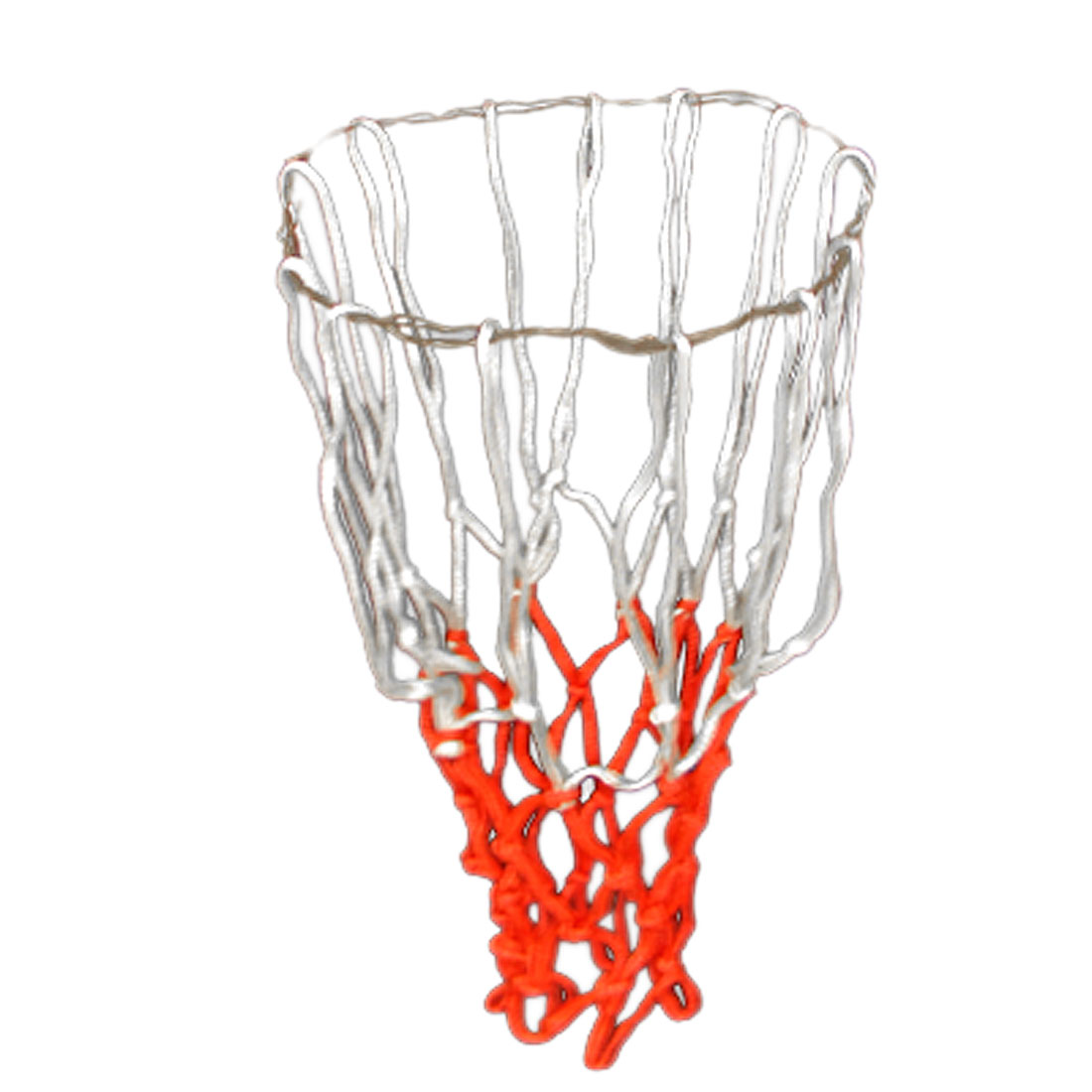 All Seasons White Red Nylon Backetball Sports Training Nets 2pcs