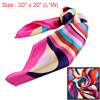 Stream Flow Pattern Square Shaped Polyester Scarf