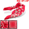 Floral Print Red Polyester Scarves Modern Headband for Lady