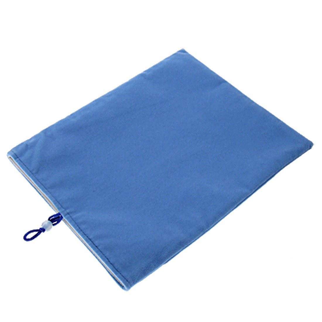 Soft Plush Button Pouch Bag w Lining for iPad 1 Baby Blue