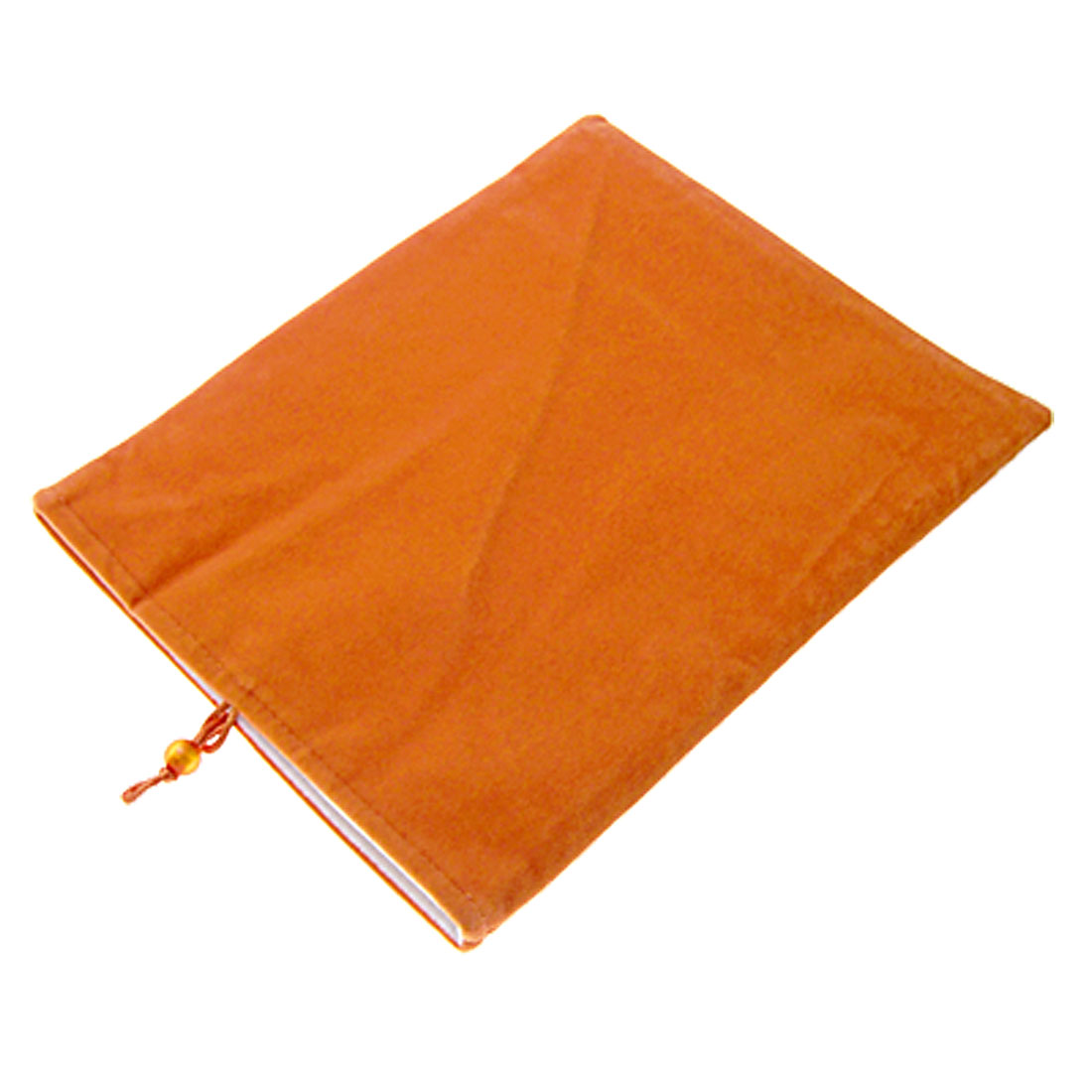 Orange Red Thick Plush Pouch with Lining for Cell Phone