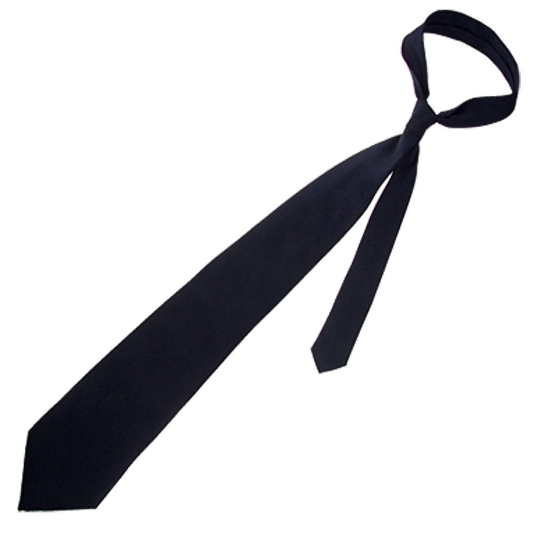 Fashionable Black Polyster Necktie Men Neck Tie