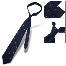 Men Striped Polyester Neck Tie Diagonal Stripe Necktie
