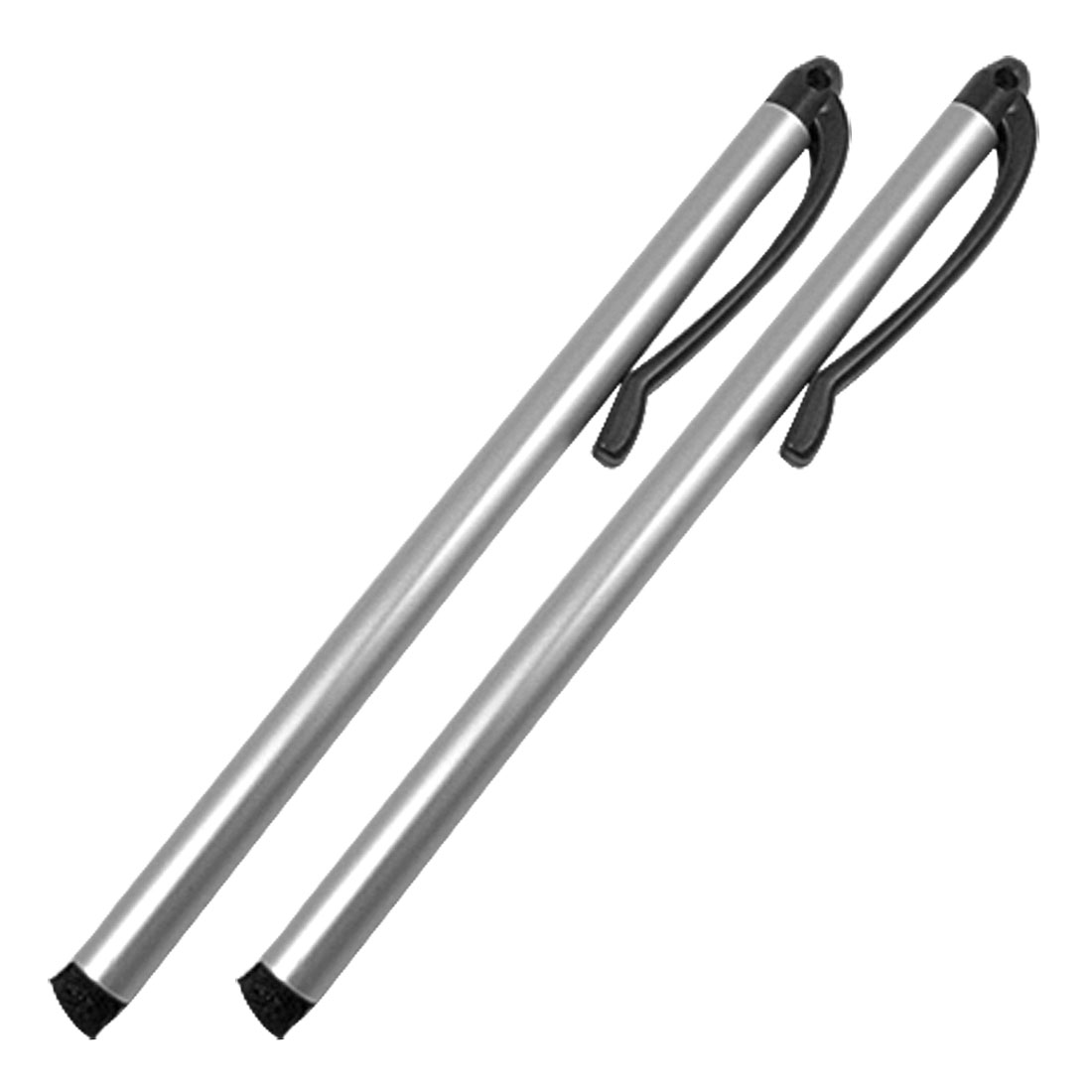 2pcs Silver Tone Replacement Stylus Touch Pen
