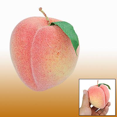 Foam Juicy Peach Home Office Desk Manmade Fruit Decor