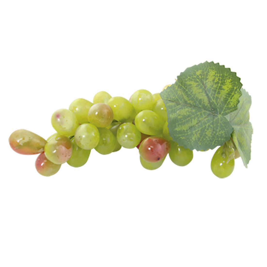 Bunch of Soft Plastic Grapes Fruit Decor Ornament Green
