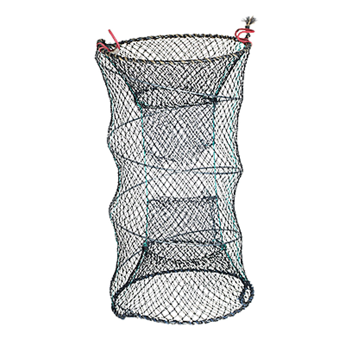 Black Collapsible 3 Layers Fish Taking Mesh Net Bag