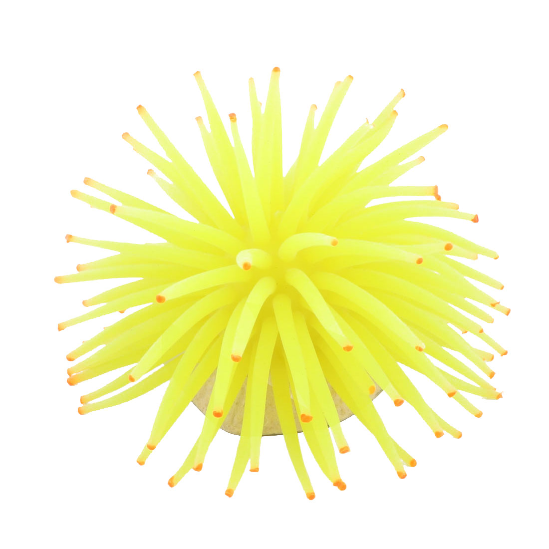 Bright Yellow Silicone Sea Anemone Vivid Decor for Aquarium Tank