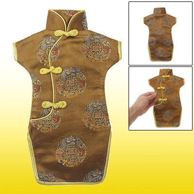 Handcraft Cheongsam Dress Wine Bottle Cover Wrap
