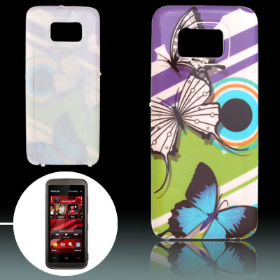 Butterflies Pattern Battery Door Case Cover for Nokia 5530
