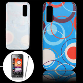 Circles Pattern Plastic Battery Door Cover for Samsung S5230 Star