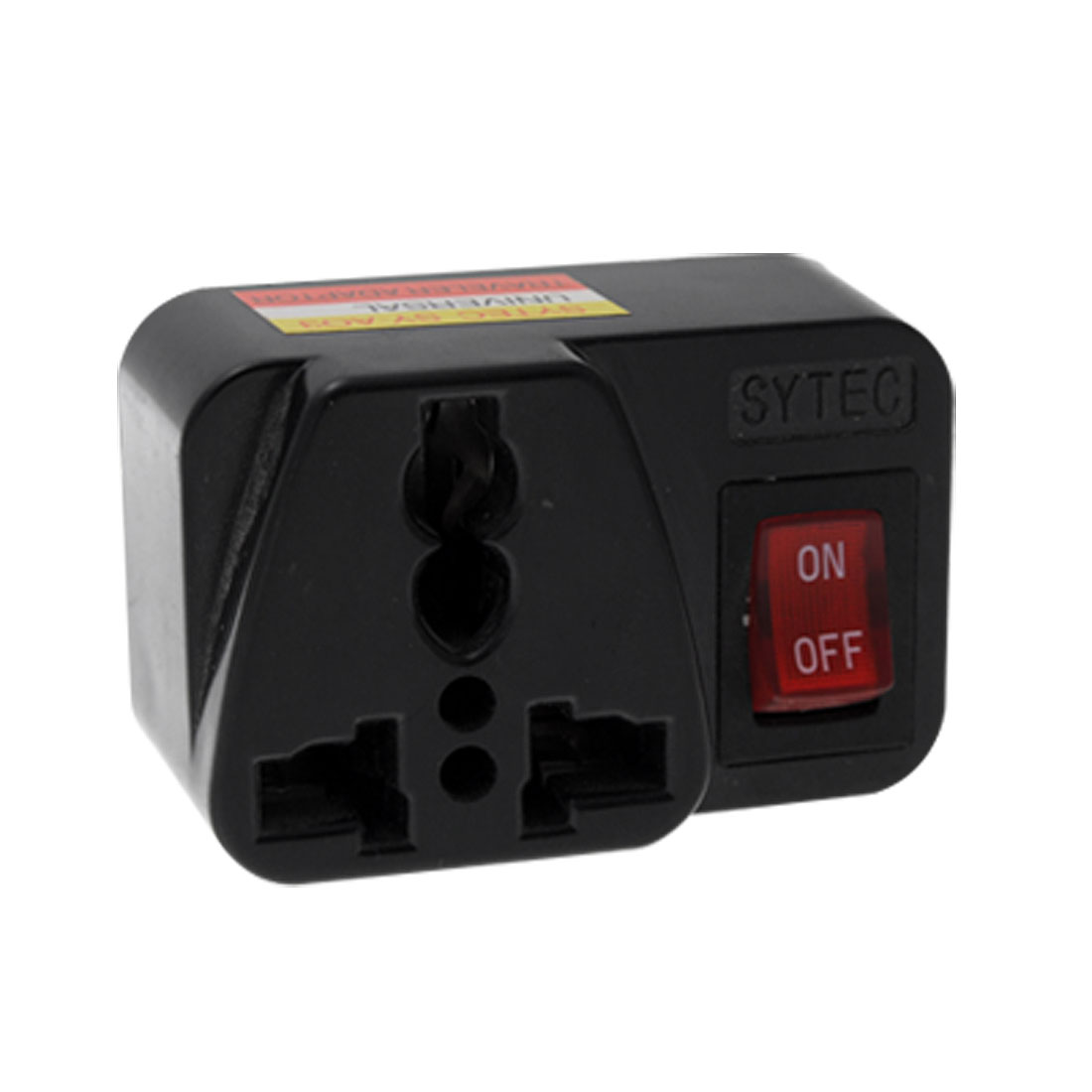 US Plug 250V Black Travel Socket Universal Adapter W Switch