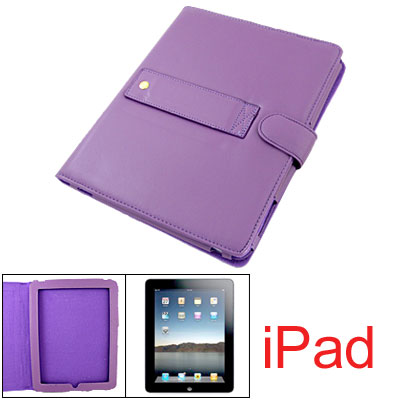 Button Case Soft Faux Leather Purple Bag for Notebook Laptop