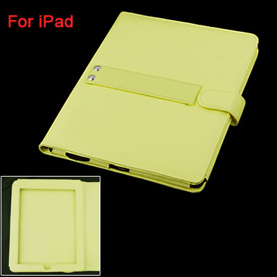 Faux Leather Flip Clasp Protecive Bag for Notebook Laptop Yellow