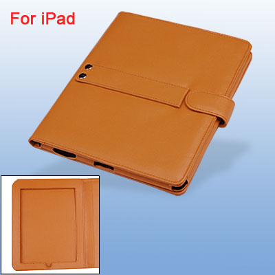 Orange Faux Leather Bag Flip Clasp Case for Notebook Laptop