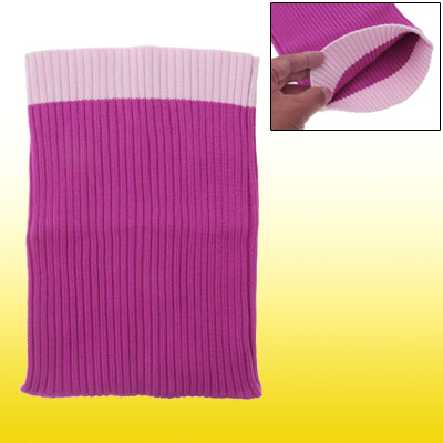 Fuchsia Pink Knit Protective Sock Cloth Pouch for Notebook