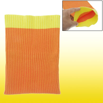 Orange Yellow Soft Knit Sock Pouch Bag Protector for Notebook Laptop