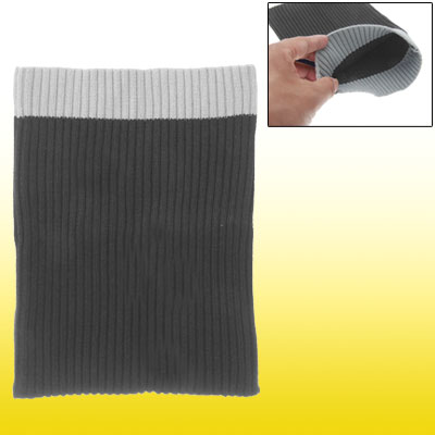 Knit Sock Tube Sleeve Cloth Pouch Black Grey for Notebook Laptop