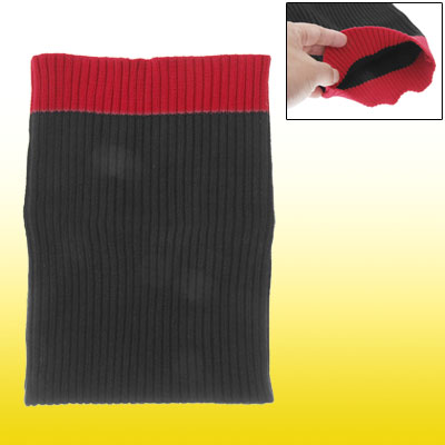 Black Red Soft Knitting Protection Sock Pouch Case for Notebook Laptop