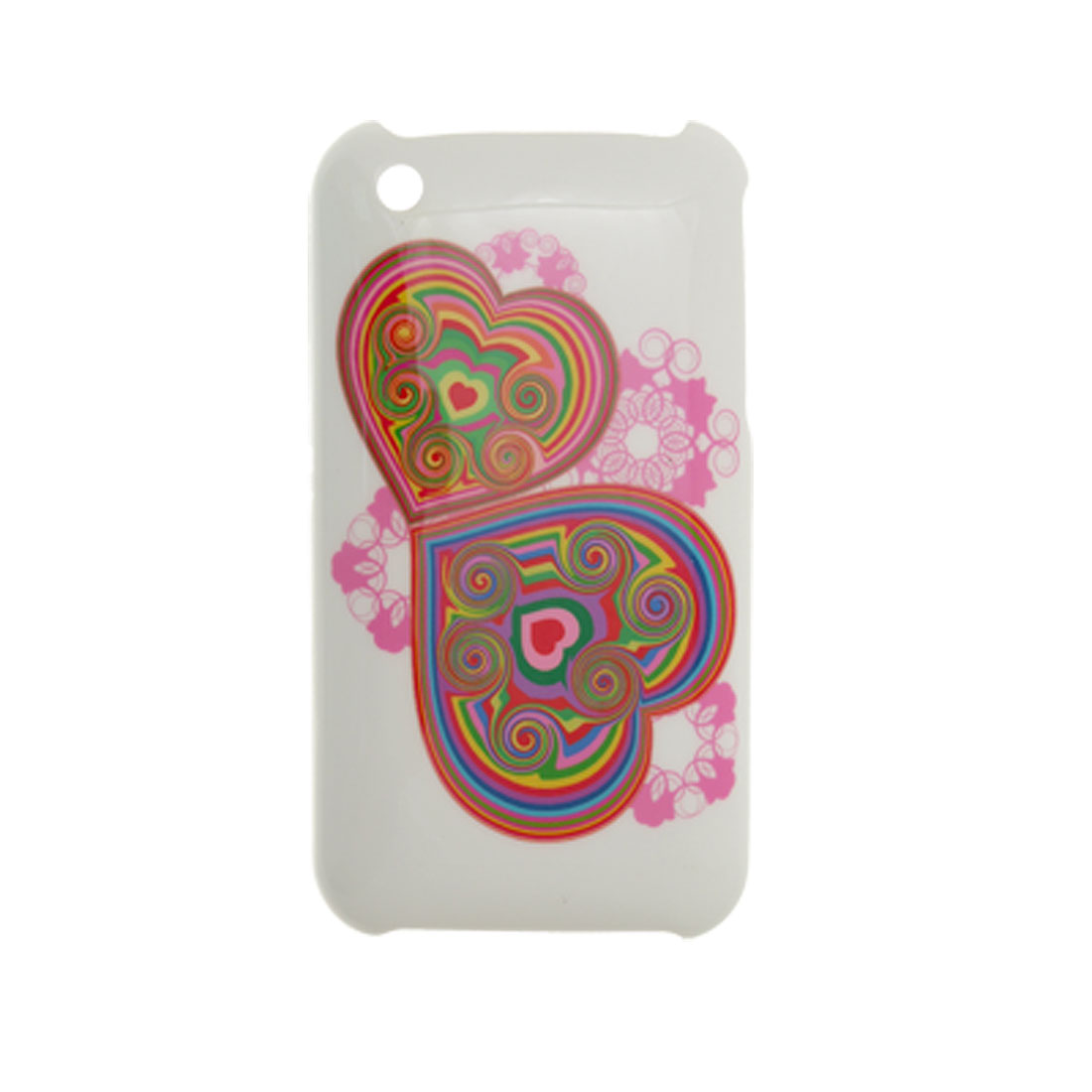 Hearts White Plastic Case Protector for iPhone 3G 3GS