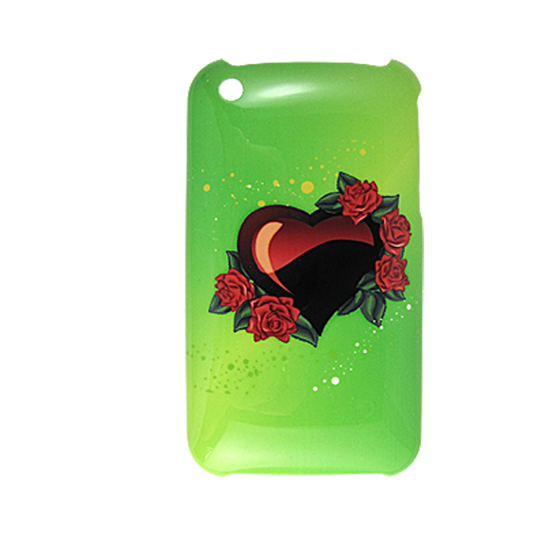 IMD Hard Plastic Case Rose Back Cover Green for iPhone 3G