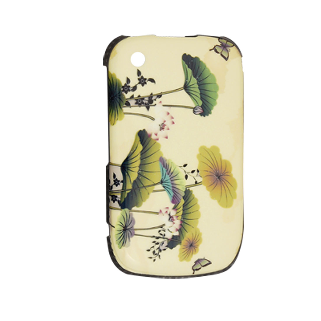 Plastic Case Lotus Leaf Back Cover for Blackberry 8520 Curve