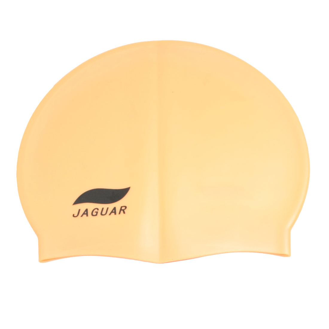 Interior Anti Slip Orange Silicone Skin Swimming Cap Hat